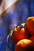 Oranges in a glass bowl, Finca Hotel de Reis, Soller, Majorca, Spain, Europe