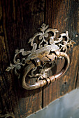 Antique door knocker, Finca Baltix, d`Avall, Tramuntana, Majorca, Spain