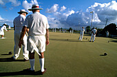 People bowling outdoors, Brother´s Sport Club, Bundaberg, Queensland, Australia