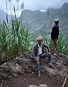 Farmers, Cova Crater, Santo Antao Cape Verde