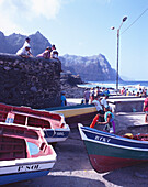 Waiting for Fishermen, Habour, Ponta do Sol, Island of Santo Antáo Cape Verde