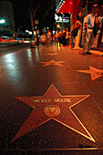 Walk of Fame, stars on the pavement of the Hollywood Boulevard, Los Angeles, California, USA, America