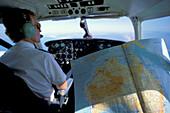 Pilot, Map of Australia, Mailrun Postflug, from Adelaide to Port Augusta, South Australia