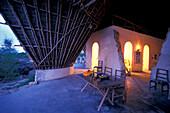 Eco architecture for guests, Nature Reserve, Chumbe Island, Zanzibar, Tanzania