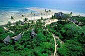 Bungalows, Beach, Nature Reserve, Chumbe Island, Sansibar, Tanzania, Zanzibar, Tanzania, Africa
