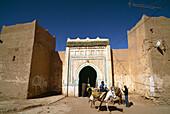 Donkey at the city gates, near Rissani, Tafilalt, Marocco, Africa