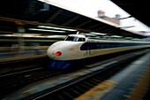 Shinkansen Bullet Trains, High speed train at the station of Tokyo, Japan, Asia