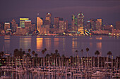 Marina des San Diego Yacht Clubs, San Diego Bay, Downtown San Diego, Kalifornien, USA