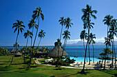 Poolbar hinten:Moorea, , Beachcomber Hotel, Tahiti Franz. Polynesien, Suedpazifik