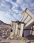 Person Relaxing in a beach chair, Baltic Sea, Germany