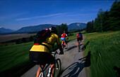 Mountainbike, Fuenfseenland, Sommer Oberbayern, Deutschland