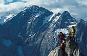 Wandern, Bergsteigen, Dolomiten, Italien Europa r.o.a.