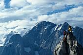 Wandern, Hiking, Dolomiten, Suedtirol Italien