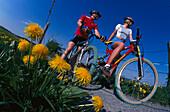 Mountainbiking, Fuenfseenland, Upper Bavaria Germany