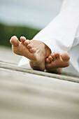 Feets on a path, Feets on a path, Female feet on a path, wellness