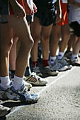 Runners before start of the race, Sports