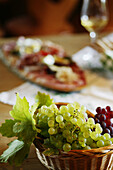 Wine and light meal , Wine and light meal in Styria, Austria, Bunch of grapes, Styria, Austria , Tradition Styria, Austria