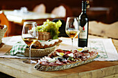 Wine and light meal , Wine and light meal in Styria, Austria, Traditional food, Styria, Austria , Styria, Austria Tradition