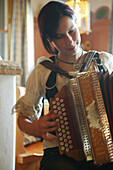 Girl playing Accordion, Austria, Tradition Music Austria, Styria