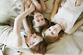 Girls having fun, Three girls having fun