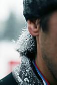 Men with frozen hair, Siberia