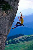 Free Climbing, Gosaukamm, Austria