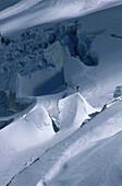 Person on Grossglockner Glacier, Salzburger Land, Austria