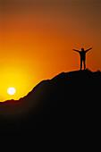 Woman, Mountain Top, South Afrika