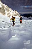 Skiing tour over Hallstatt Glacier, Hoher Dachstein, Austria