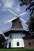 Windmill in the sunlight, Hojer, Juetland, Denmark, Europe