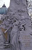 Grave of Johann Strauss, Zentralfriedhof, Vienna, Austria Europe