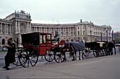 Neue Hofburg, Fiaker, Vienna, Austria Europe