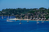Yacht vor Iririki Island Resort, Port Vila, Efate Vanuatu