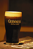 A pint of cold Guiness at Keenans Pub, Tarmonbarry, Upper Shannon, Ireland