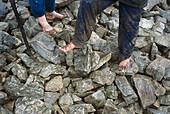 Barefoot Ascent, Croagh Patrick Pilgrimage Murrisk, Co. Mayo, Ireland