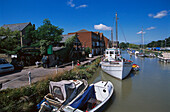 Boats on the River Stour, Sandwich, Kent, England, Great Britain