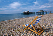 Beach Chair, West Pier, Brighton, East Sussex England