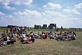 School Group, Stonehenge, Near Salisbury, Wiltshire England