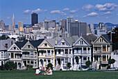 Alamo Square , Skyline, San Francisco, California USA