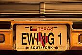 Ewing 1 License Plate, Dallas , Texas USA