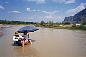 Relaxing in the Rio Grande, Big Bend NP, Texas USA