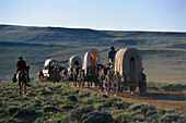 Mormon Pioneer Wagon Train, near South Pass, Wyoming USA