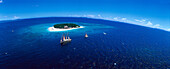 Aerial Photo of Beachcomber Island Resort, Beachcomber Island Resort, Mamanuca Islands Group, Fiji, South Pacific