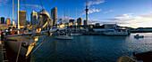 Viaduct Basin & City Skyline, Auckland, North Island, New Zealand