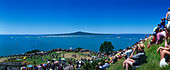 Spectators on North Head watch Regatta Start, Devonport, Auckland, North Island, New Zealand