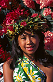 Nadia Ahhim at the Flower Gala, Apia, Upolu, Western Samoa, South Pacific