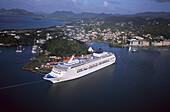 Cruiseeship Norwegian Sky, Castries St. Lucia, Carribean