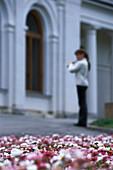 Flowers and Flutist, Livadia Palace, Yalta Crimea, Ukraina