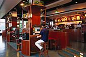 Internet Cafe, Pacific Coffee Company Victoria Peak, Hongkong
