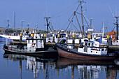 Hvide Sande Fishing Boats, Ringkobing Fjord, Hvide Sande, Central Jutland, Denmark